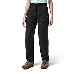 Craghoppers - Black classic Kiwi trousers - short length