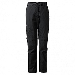 Craghoppers - Black classic Kiwi convertible trousers - long length