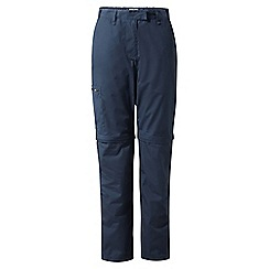 Craghoppers - Soft navy classic Kiwi convertible trousers - regular length