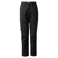 Craghoppers - Black classic Kiwi convertible trousers - short length