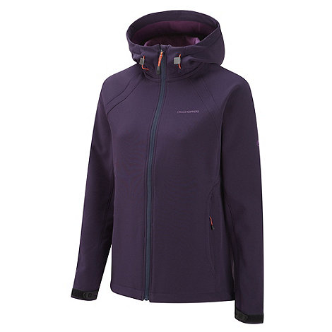 Craghoppers - Dark Purple Lena Hooded Soft-Shell Jacket