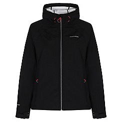 Craghoppers - Black / sea salt lena hooded softshell jacket