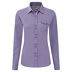Craghoppers - Velvet plum kiwi long-sleeved shirt