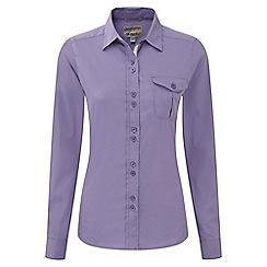 Craghoppers - Velvet plum kiwi long-sleeved shirt