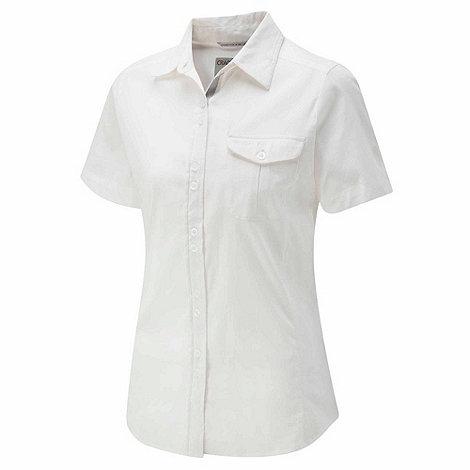 Craghoppers - White kiwi short-sleeved shirt