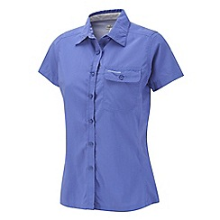 Craghoppers - Blue violet nosilife darla ii short-sleeved shirt