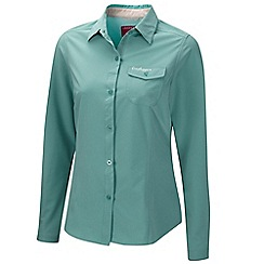 Craghoppers - Turquoise blue nosilife pro long-sleeved shirt