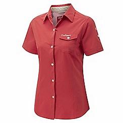 Craghoppers - Rose pink nosilife pro short sleeved shirt