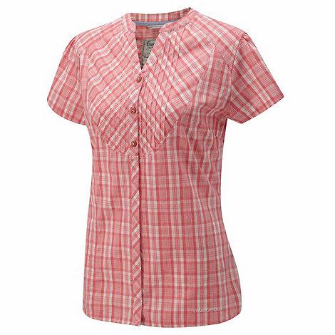 Craghoppers - Soft pink almondbury short-sleeved shirt
