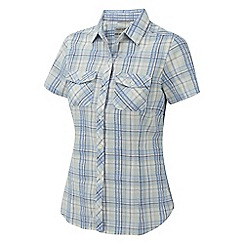 Craghoppers - Powder blue dolores short sleeved shirt