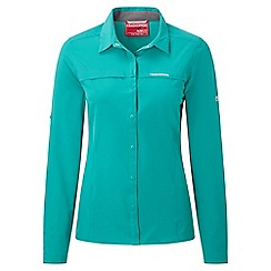 Craghoppers - Bright turquoise nosilife pro long sleeved shirt