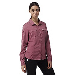 Craghoppers - Rosehip pink Insect repelling adventure long-sleeved shirt