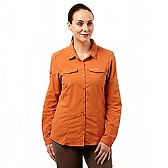 Craghoppers - Desert orange nosilife adventure long-sleeved shirt