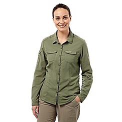 Craghoppers - Soft moss nosilife adventure long-sleeved shirt