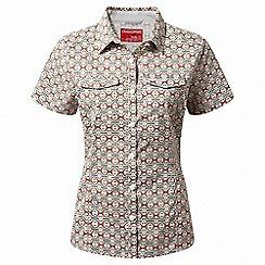 Craghoppers - Green nosilife adventure short sleeved shirt