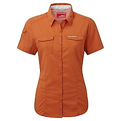 Craghoppers - Desert orange nosilife adventure short sleeved shirt