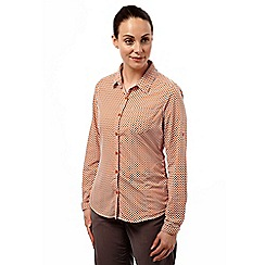 Craghoppers - Dst orange combo nosilife olivie long sleeved shirt