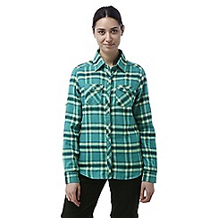 Craghoppers - Bright turquoise Valemont long sleeved check shirt