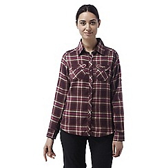 Craghoppers - Dark rioja red Valemont long sleeved check shirt