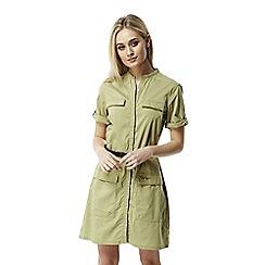 Craghoppers - Soft khaki Nosilife symone shirt dress