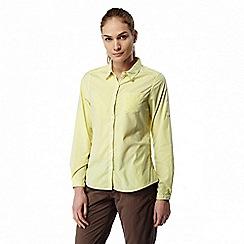 Craghoppers - Limeade combo Nosilife shona long sleeved shirt