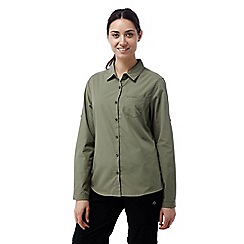 Craghoppers - Soft moss Kiwi long sleeved shirt
