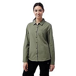 Craghoppers - Soft moss Kiwi long sleeved shirt