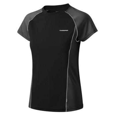 Craghoppers Black/black vitalise base t-shirt - . -