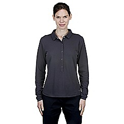 Craghoppers - Charcoal nosilife keisha long-sleeved polo