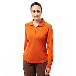 Craghoppers - Desert orange nosilife keisha ii long-sleeved polo