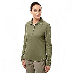 Craghoppers - Soft moss nosilife keisha ii long-sleeved polo
