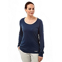 Craghoppers - Soft navy nosilife long sleeved tee