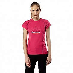 Craghoppers - Electric pink Discovery adventures short sleeved t-shirt