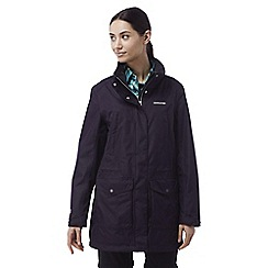 Craghoppers - Dark purple Madigan long waterproof jacket