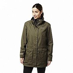 Craghoppers - Green 'Madigan' long waterproof jacket