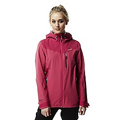 Craghoppers - Electric pink Discovery adventures stretch waterproof jacket