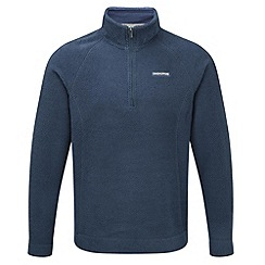 Craghoppers - Faded indigo wainton half-zip summer fleece