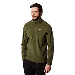 Craghoppers - Dark moss Corey half zip fleece