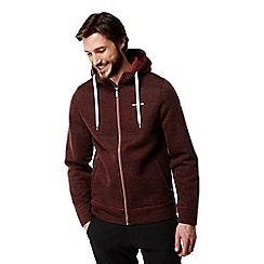 Craghoppers - Carmine red Mason hooded fleece jacket