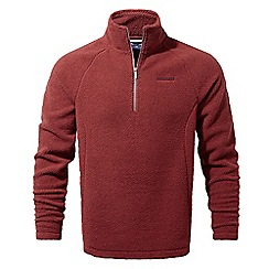 Craghoppers - Carmine red Barston lightweight half zip fleece