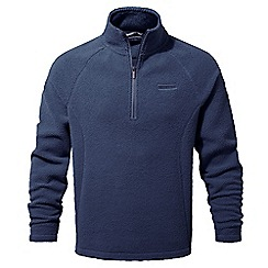 Craghoppers - Night blue Barston lightweight half zip fleece