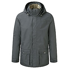Craghoppers - Dark grey Walden waterproof hooded jacket