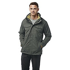 Craghoppers - Dark khaki Wheeler 3 in 1 waterproof jacket