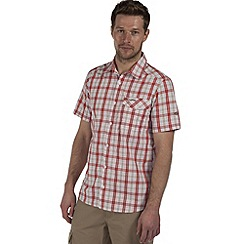 Craghoppers - Laser red landon short-sleeved summer shirt