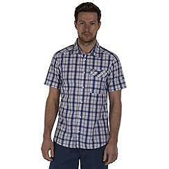 Craghoppers - Imperial blue landon short-sleeved summer shirt