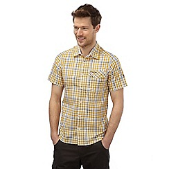 Craghoppers - Mustard combo lomand short sleeved check shirt