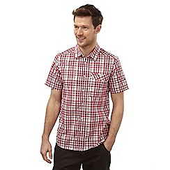 Craghoppers - Chilli combo lomand short sleeved check shirt