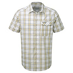 Craghoppers - Quarry grey combo spencer short sleeved check shirt