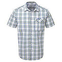 Craghoppers - Sport blue combo spencer short sleeved check shirt