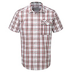 Craghoppers - Rust combo spencer short sleeved check shirt